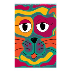 Colorful cat 2  Shower Curtain 48  x 72  (Small)