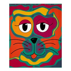 Colorful cat 2  Shower Curtain 60  x 72  (Medium)