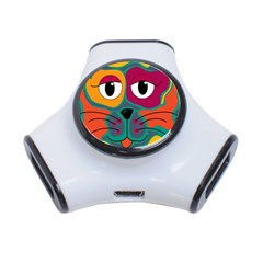 Colorful cat 2  3-Port USB Hub