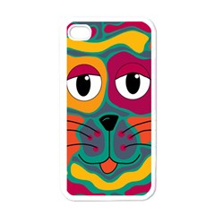 Colorful cat 2  Apple iPhone 4 Case (White)