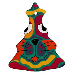 Colorful cat 2  Christmas Tree Ornament (2 Sides)