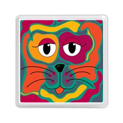 Colorful cat 2  Memory Card Reader (Square)