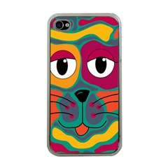 Colorful cat 2  Apple iPhone 4 Case (Clear)