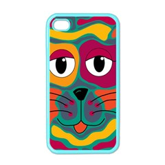 Colorful cat 2  Apple iPhone 4 Case (Color)