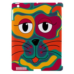 Colorful cat 2  Apple iPad 3/4 Hardshell Case (Compatible with Smart Cover)