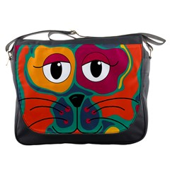 Colorful cat 2  Messenger Bags