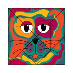 Colorful cat 2  Acrylic Tangram Puzzle (6  x 6 )