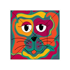 Colorful cat 2  Acrylic Tangram Puzzle (4  x 4 )