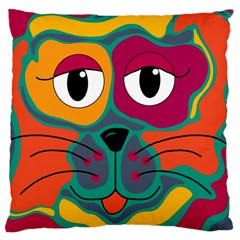Colorful cat 2  Large Cushion Case (Two Sides)