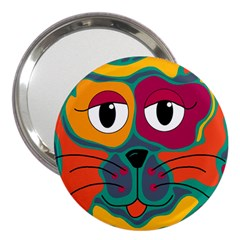 Colorful cat 2  3  Handbag Mirrors