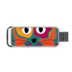 Colorful cat 2  Portable USB Flash (One Side)