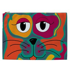 Colorful cat 2  Cosmetic Bag (XXL)