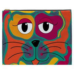 Colorful cat 2  Cosmetic Bag (XXXL)