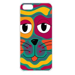 Colorful cat 2  Apple iPhone 5 Seamless Case (White)