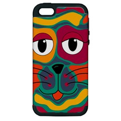 Colorful cat 2  Apple iPhone 5 Hardshell Case (PC+Silicone)