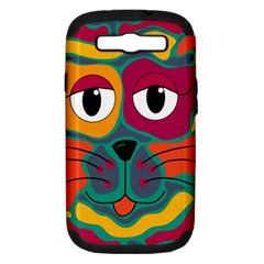 Colorful cat 2  Samsung Galaxy S III Hardshell Case (PC+Silicone)