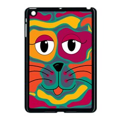 Colorful cat 2  Apple iPad Mini Case (Black)