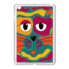 Colorful cat 2  Apple iPad Mini Case (White)