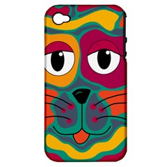 Colorful cat 2  Apple iPhone 4/4S Hardshell Case (PC+Silicone)