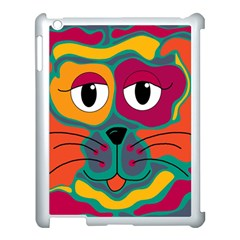 Colorful cat 2  Apple iPad 3/4 Case (White)