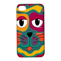 Colorful cat 2  Apple iPhone 4/4S Hardshell Case with Stand