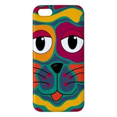 Colorful cat 2  Apple iPhone 5 Premium Hardshell Case