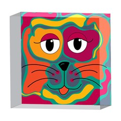 Colorful cat 2  5  x 5  Acrylic Photo Blocks