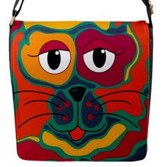 Colorful cat 2  Flap Messenger Bag (S)
