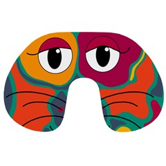 Colorful cat 2  Travel Neck Pillows