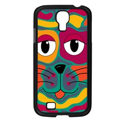 Colorful cat 2  Samsung Galaxy S4 I9500/ I9505 Case (Black)