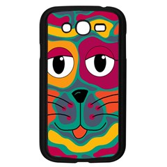 Colorful cat 2  Samsung Galaxy Grand DUOS I9082 Case (Black)