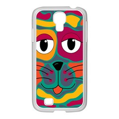 Colorful cat 2  Samsung GALAXY S4 I9500/ I9505 Case (White)