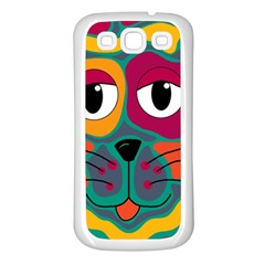 Colorful cat 2  Samsung Galaxy S3 Back Case (White)