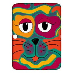 Colorful cat 2  Samsung Galaxy Tab 3 (10.1 ) P5200 Hardshell Case