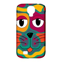 Colorful cat 2  Samsung Galaxy S4 Classic Hardshell Case (PC+Silicone)
