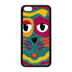 Colorful cat 2  Apple iPhone 5C Seamless Case (Black)