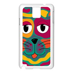 Colorful cat 2  Samsung Galaxy Note 3 N9005 Case (White)