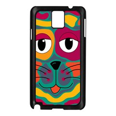 Colorful cat 2  Samsung Galaxy Note 3 N9005 Case (Black)
