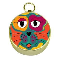 Colorful cat 2  Gold Compasses