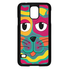 Colorful cat 2  Samsung Galaxy S5 Case (Black)