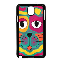 Colorful cat 2  Samsung Galaxy Note 3 Neo Hardshell Case (Black)