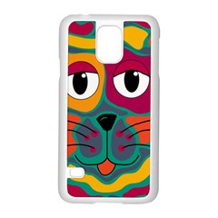 Colorful cat 2  Samsung Galaxy S5 Case (White)