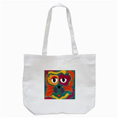 Colorful cat 2  Tote Bag (White)
