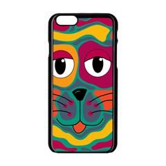Colorful cat 2  Apple iPhone 6/6S Black Enamel Case