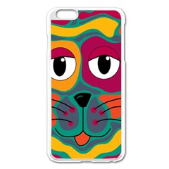Colorful cat 2  Apple iPhone 6 Plus/6S Plus Enamel White Case