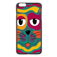 Colorful cat 2  Apple iPhone 6 Plus/6S Plus Black Enamel Case