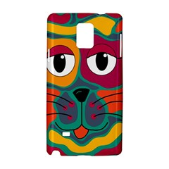 Colorful cat 2  Samsung Galaxy Note 4 Hardshell Case