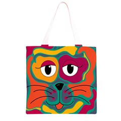 Colorful cat 2  Grocery Light Tote Bag