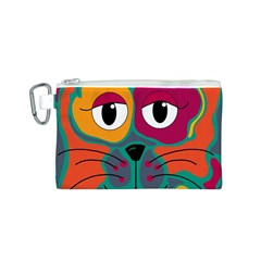 Colorful cat 2  Canvas Cosmetic Bag (S)
