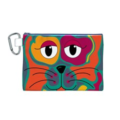 Colorful cat 2  Canvas Cosmetic Bag (M)